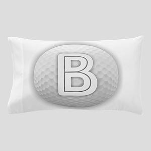 B Golf Ball - Monogram Golf Ball - Mon Pillow Case