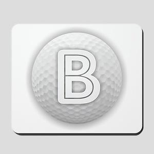 B Golf Ball - Monogram Golf Ball - Monog Mousepad