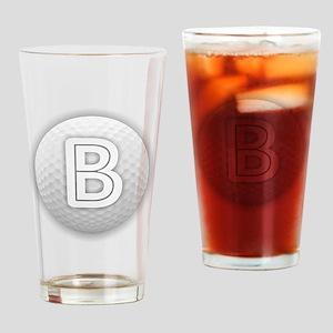 B Golf Ball - Monogram Golf Ball - Drinking Glass