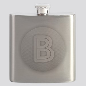 B Golf Ball - Monogram Golf Ball - Monogram Flask