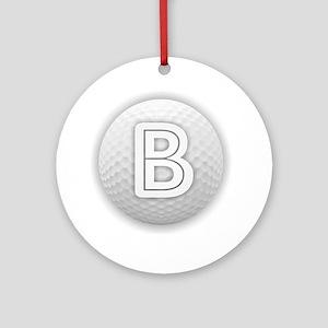 B Golf Ball - Monogram Golf Ball Ornament (Round)