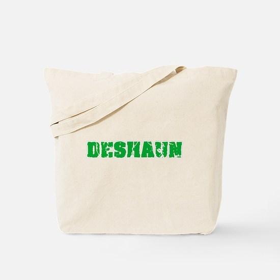 Deshaun Name Weathered Green Design Tote Bag