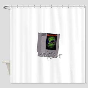 Soda pop zombies cartridge Shower Curtain