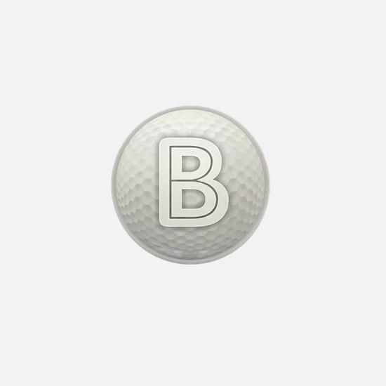 B Golf Ball - Monogram Golf Ball - Mon Mini Button