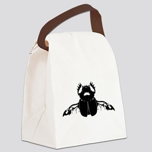 Scarab Beetle Canvas Lunch Bag