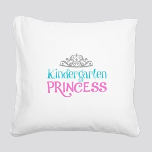 Kindergarten Princess Square Canvas Pillow