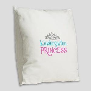 Kindergarten Princess Burlap Throw Pillow