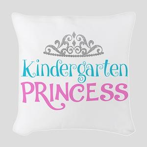 Kindergarten Princess Woven Throw Pillow