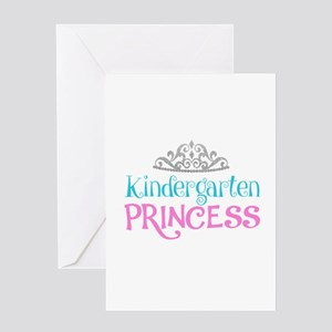 First day of school greeting cards cafepress kindergarten princess greeting cards m4hsunfo
