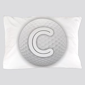 C Golf Ball - Monogram Golf Ball - Mon Pillow Case