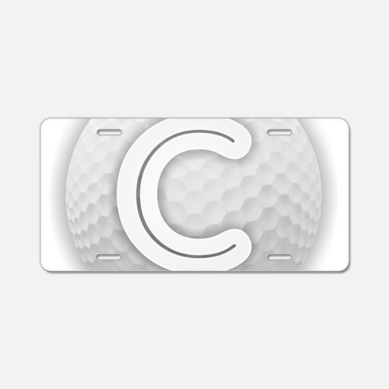 C Golf Ball - Monogram Golf Aluminum License Plate