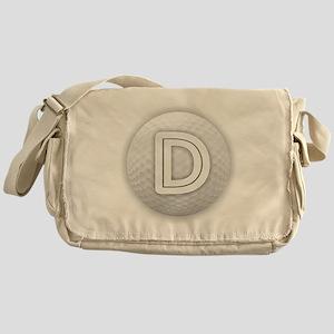 D Golf Ball - Monogram Golf Ball - M Messenger Bag