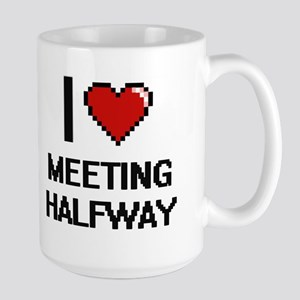 I Love Meeting Halfway Mugs