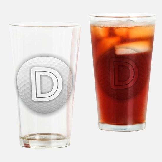 D Golf Ball - Monogram Golf Ball - Drinking Glass
