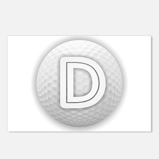 D Golf Ball - Monogram Go Postcards (Package of 8)