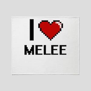 I Love Melee Throw Blanket