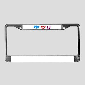 I love you License Plate Frame