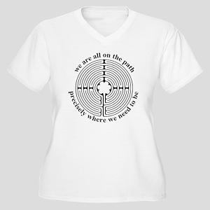 Finger labyrinth Plus Size T-Shirt