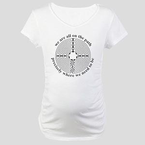 Finger labyrinth Maternity T-Shirt