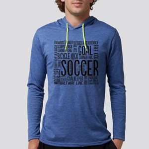Soccer Word Cloud Long Sleeve T-Shirt