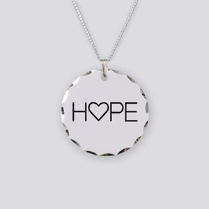 Home (simple) Necklace Circle Charm
