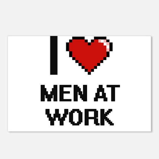 I Love Men At Work Postcards (Package of 8)