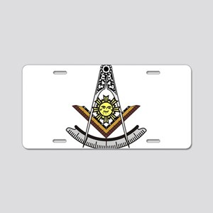 Past Master Aluminum License Plate