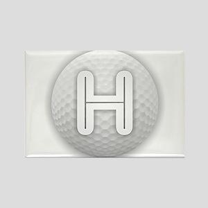 H Golf Ball - Monogram Golf Ball - Monogra Magnets
