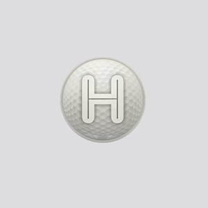 H Golf Ball - Monogram Golf Ball - Mon Mini Button