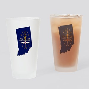 INDIANAPOLIS INDIANA FLAGS Drinking Glass