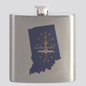 INDIANAPOLIS INDIANA FLAGS Flask