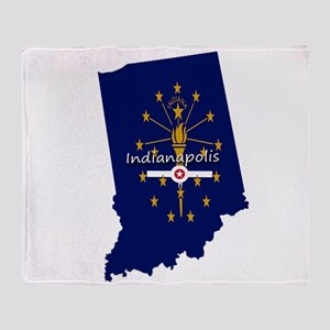 INDIANAPOLIS INDIANA FLAGS Throw Blanket