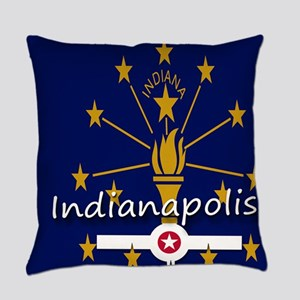 INDIANAPOLIS INDIANA FLAGS Everyday Pillow