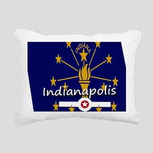 INDIANAPOLIS INDIANA FLA Rectangular Canvas Pillow