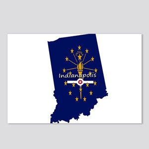 INDIANAPOLIS INDIANA FLAG Postcards (Package of 8)