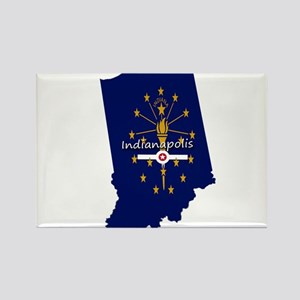 INDIANAPOLIS INDIANA FLAGS Magnets