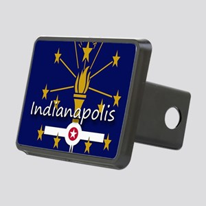INDIANAPOLIS INDIANA FLAGS Rectangular Hitch Cover