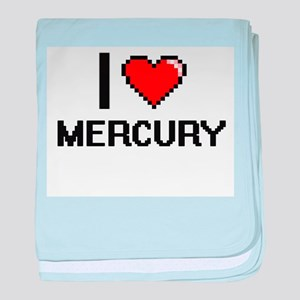 I Love Mercury baby blanket