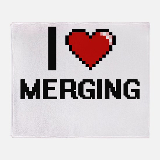 I Love Merging Throw Blanket