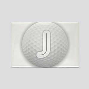 J Golf Ball - Monogram Golf Ball - Monogra Magnets