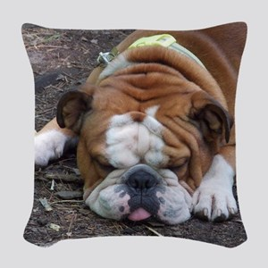 Tuckered Out Woven Throw Pillow