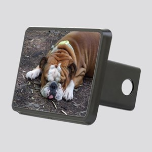 Tuckered Out Rectangular Hitch Cover