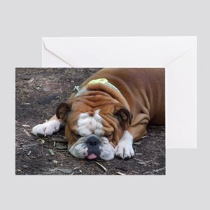 Tuckered Out Greeting Card