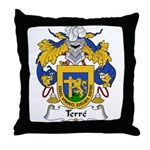 Terre Family Crest  Throw Pillow