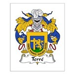 Terre Family Crest  Small Poster