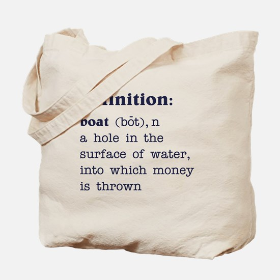 Boat Definition Tote Bag