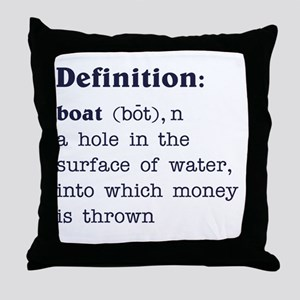 Boat Definition Throw Pillow