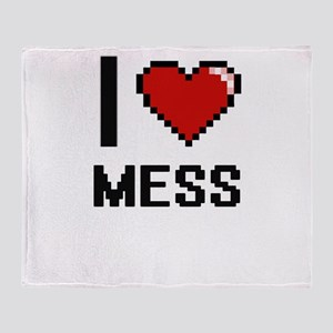 I Love Mess Throw Blanket