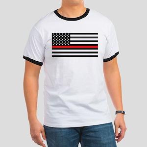 Firefighter: Black Flag & Red Line T-Shirt
