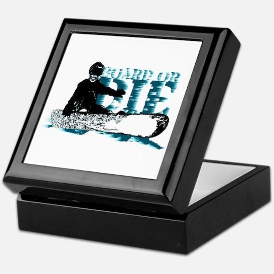board or die snowboarder Keepsake Box